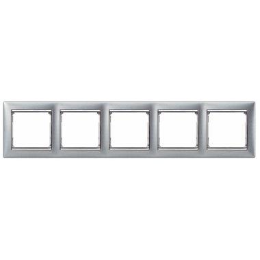 Рамка Valena 5-постовая матовый алюминий/серебряный штрих Legrand
