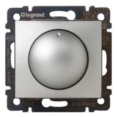 Светорегулятор (диммер) Valena поворотный 400W алюминий Legrand