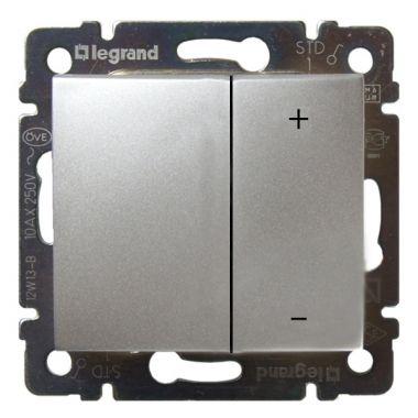 Светорегулятор (диммер) Valena нажимной универсальный 400W алюминий Legrand
