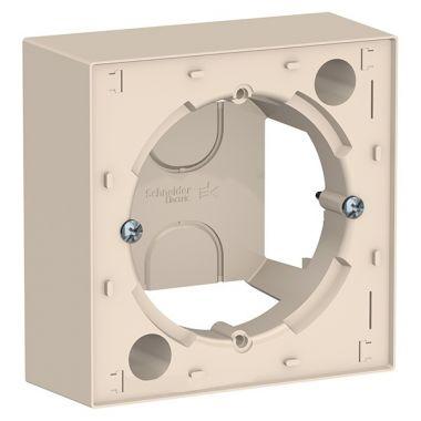 Коробка 1-постовая для накладного монтажа AtlasDesign, бежевый Schneider Electric