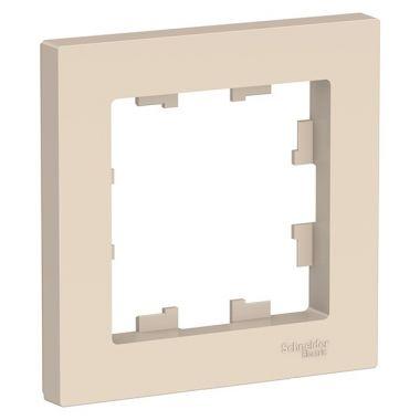 Рамка AtlasDesign 1-постовая, бежевый Schneider Electric