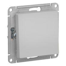 Выключатель 1-клавишный 10А AtlasDesign, алюминий Schneider Electric