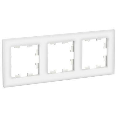 Рамка AtlasDesign Nature 3-постовая, стекло белый Schneider Electric