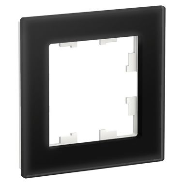 Рамка AtlasDesign Nature 1-постовая, стекло черный Schneider Electric