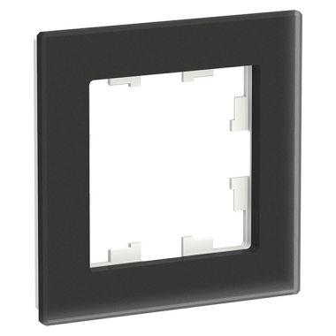 Рамка AtlasDesign Nature 1-постовая, матовое стекло черный Schneider Electric