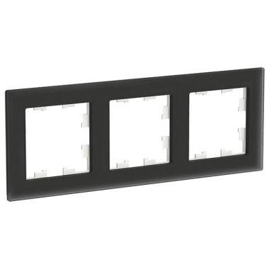 Рамка AtlasDesign Nature 3-постовая, матовое стекло черный Schneider Electric