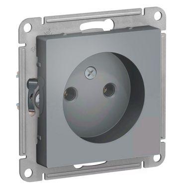 Розетка без заземления 16А  AtlasDesign, грифель Schneider Electric