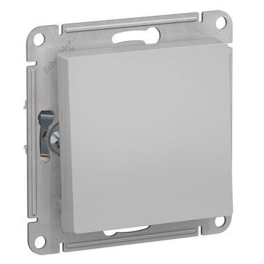 Кнопка  10А AtlasDesign, алюминий Schneider Electric