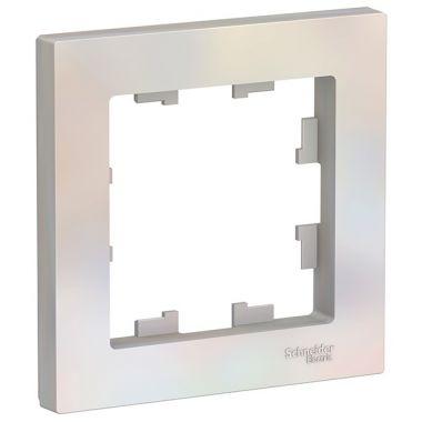 Рамка AtlasDesign 1-постовая, жемчуг Schneider Electric