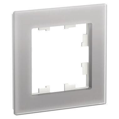Рамка AtlasDesign Nature 1-постовая, стекло алюминий Schneider Electric