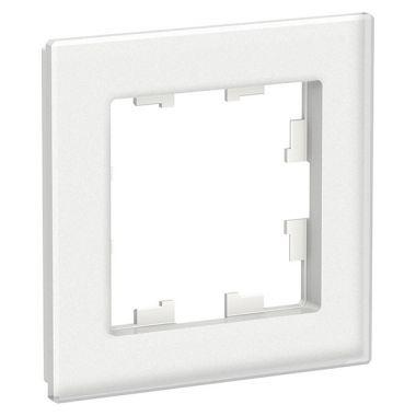 Рамка AtlasDesign Nature 1-постовая, матовое стекло белый Schneider Electric