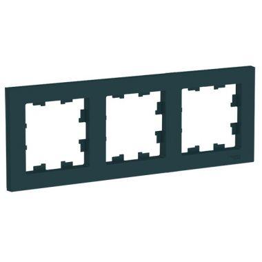 Рамка AtlasDesign 3-постовая универсальная, изумруд Schneider Electric