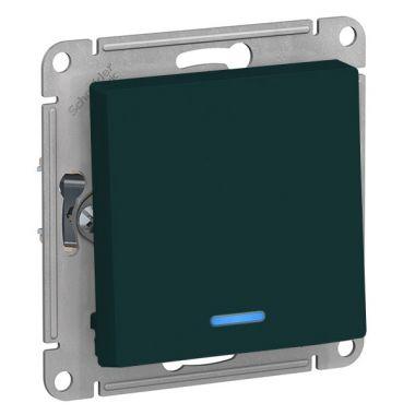 Выключатель 1-клавишный с подсветкой 10А AtlasDesign, изумруд Schneider Electric