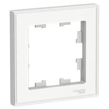 Рамка AtlasDesign Art 1-постовая, белый Schneider Electric