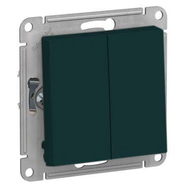 Выключатель 2-клавишный 10А AtlasDesign, изумруд Schneider Electric