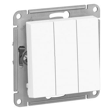 Выключатель 3-клавишный 10АХ механизм AtlasDesign, белый Schneider Electric
