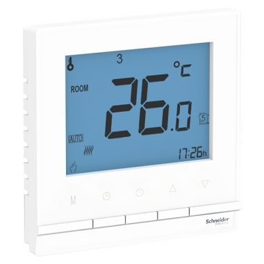Термостат электронный для теплого пола с выносным датчиком.,от+5 до +35°C,16A AtlasDesign, белый Schneider Electric