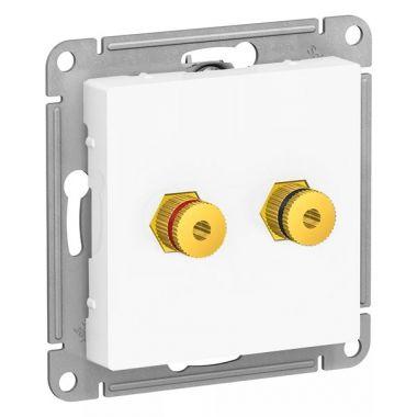 Аудиорозетка двойная AtlasDesign, белый Schneider Electric