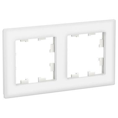 Рамка AtlasDesign Nature 2-постовая, стекло белый Schneider Electric