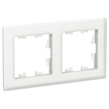 Рамка AtlasDesign Nature 2-постовая, матовое стекло белый Schneider Electric