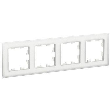 Рамка AtlasDesign Nature 4-постовая, матовое стекло белый Schneider Electric