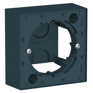 Коробка 1-постовая для накладного монтажа AtlasDesign, изумруд Schneider Electric