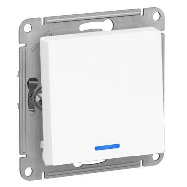 Выключатель 1-клавишный с подсветкой 10А механизм AtlasDesign, белый Schneider Electric