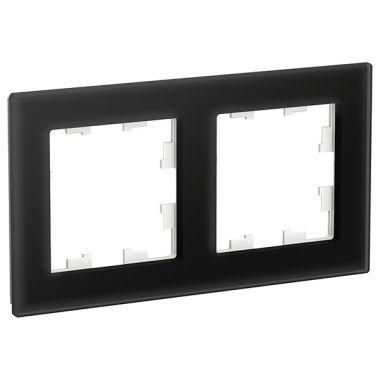 Рамка AtlasDesign Nature 2-постовая, стекло черный Schneider Electric
