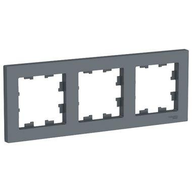 Рамка AtlasDesign 3-постовая универсальная, грифель Schneider Electric