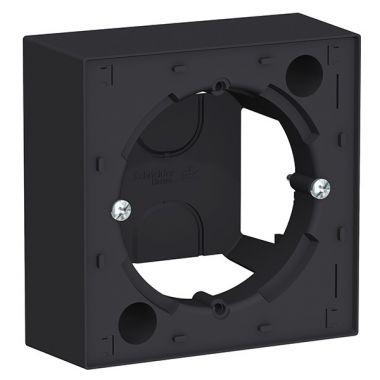 Коробка 1-постовая для накладного монтажа AtlasDesign, карбон Schneider Electric