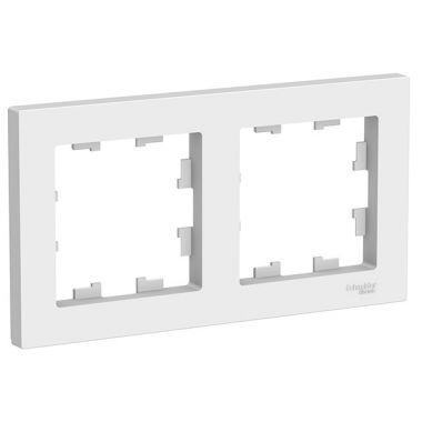 Рамка AtlasDesign Art 2-постовая, белый Schneider Electric