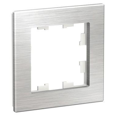 Рамка AtlasDesign Nature 1-постовая, металл серебро Schneider Electric
