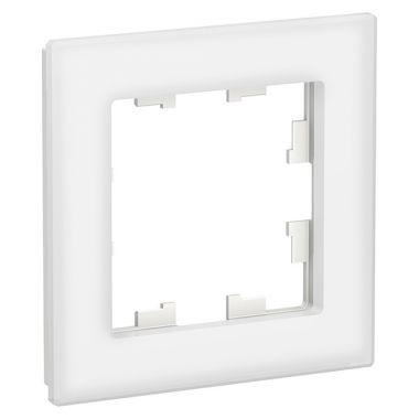 Рамка AtlasDesign Nature 1-постовая, стекло белый Schneider Electric