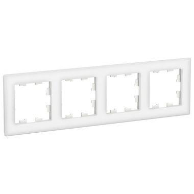 Рамка AtlasDesign Nature 4-постовая, стекло белый Schneider Electric