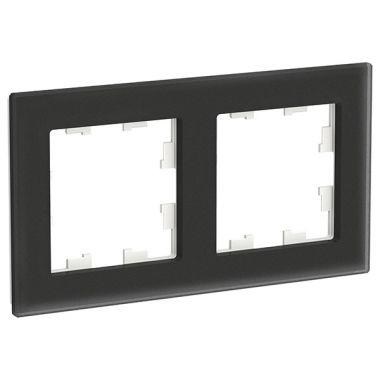 Рамка AtlasDesign Nature 2-постовая, матовое стекло черный Schneider Electric