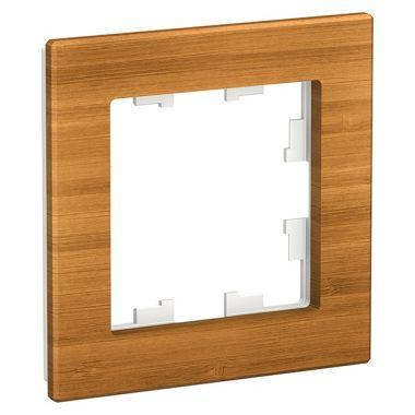 Рамка AtlasDesign Nature 1-постовая, дерево бамбук Schneider Electric