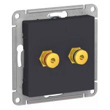 Аудиорозетка двойная AtlasDesign, карбон Schneider Electric