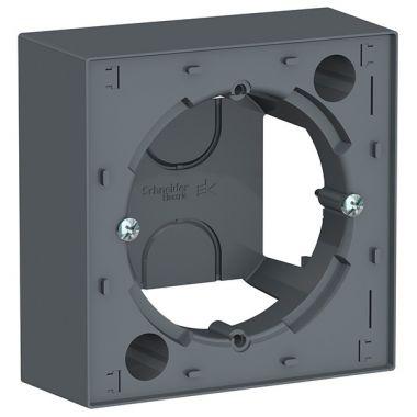 Коробка 1-постовая для накладного монтажа AtlasDesign, грифель Schneider Electric