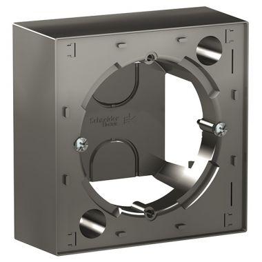 Коробка 1-постовая для накладного монтажа AtlasDesign, сталь Schneider Electric