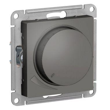Светорегулятор (диммер) поворотно-нажимной, 630Вт AtlasDesign, сталь Schneider Electric