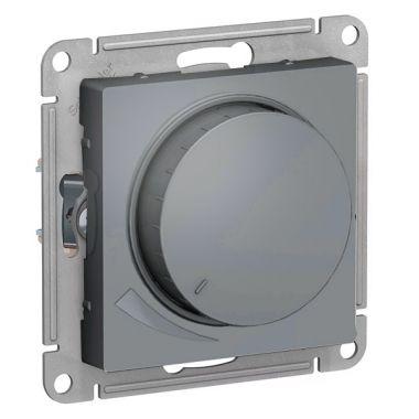 Светорегулятор (диммер) поворотно-нажимной, 630Вт AtlasDesign, грифель Schneider Electric