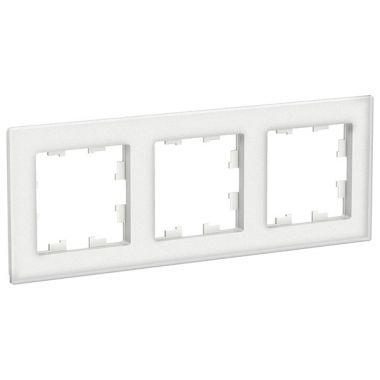 Рамка AtlasDesign Nature 3-постовая, матовое стекло белый Schneider Electric