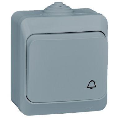 Выключатель Этюд кнопочный, IP44, серый Schneider Electric