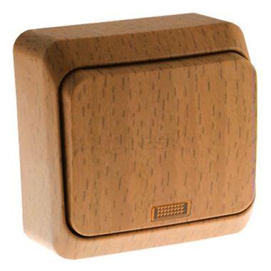 Выключатель Этюд 1-клавишный, с подсветкой, бук Schneider Electric