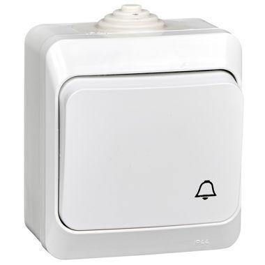 Выключатель Этюд кнопочный, IP44, белый Schneider Electric