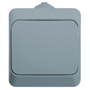 Переключатель Этюд 1-клавишный, IP44, серый Schneider Electric