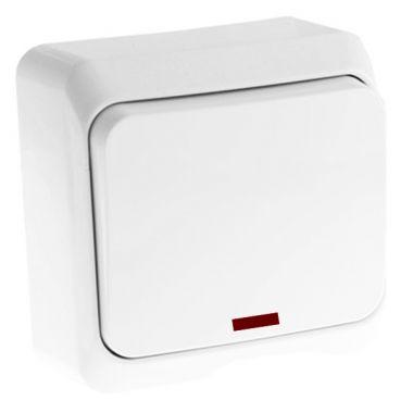 Выключатель Этюд кнопочный, с подсветкой, белый Schneider Electric