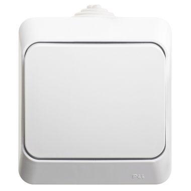 Переключатель Этюд 1-клавишный, IP44, белый Schneider Electric