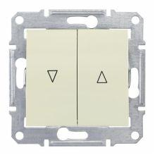 Выключатель Sedna для жалюзи с электрической блокировкой, бежевый Schneider Electric