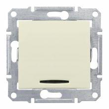 Выключатель Sedna кнопочный, с подсветкой, бежевый Schneider Electric